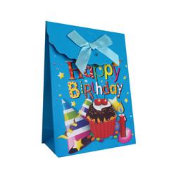 - Karton Çanta Şekerlik Cırt Yapışkanlı Mavi 12 'li