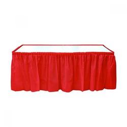 - Kırmızı Plastik Masa Eteği