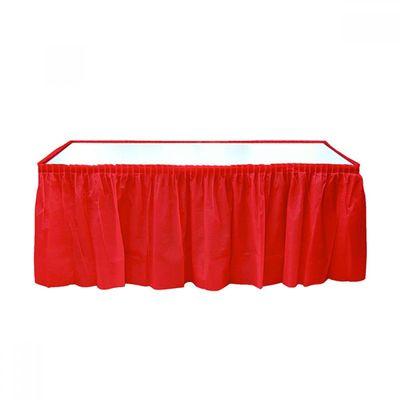 Kırmızı Plastik Masa Eteği