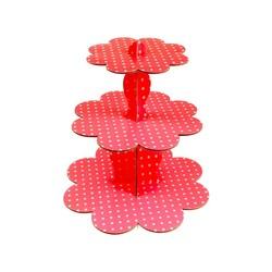 - Kırmızı Puantiyeli CupCake Standı