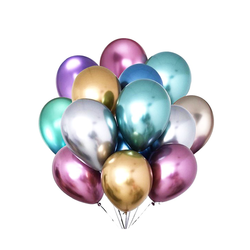 - Krom Parlak Balon 12 İnç 5 'li
