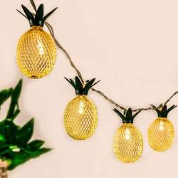 - Led Işık Metal Ananas 10 Ampül Pilli