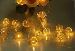 - Led Işık Metal Top Küçük 10 Ampül Pilli