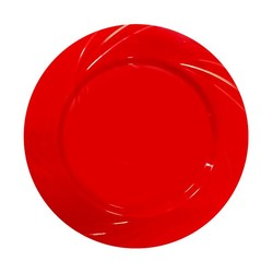 - Lux Kristal Kırmızı Yuvarlak Tabak 6 'lı