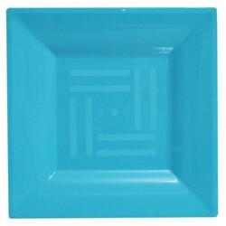 - Lux Kristal Mavi Kare Tabak 6 'lı