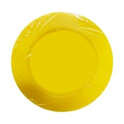 - Lux Kristal Sarı Yuvarlak Tabak 6 'lı