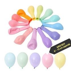 - Makaron Mini Pastel Balon Karışık Renkli 100 'lü