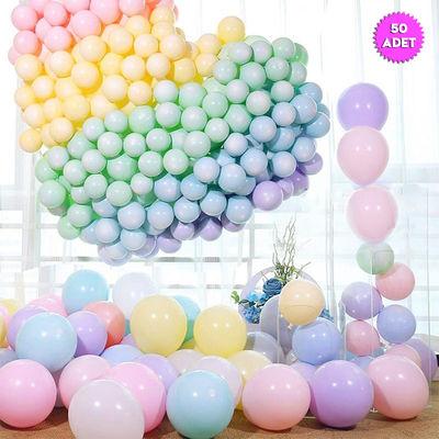 Makaron Pastel Balon Karışık Renkli 50 'li