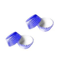 - Mavi Metalik Renkli Lokmalık Kek Kapsülü 200 'lü