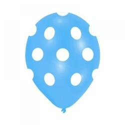 - Mavi Puantiyeli Baskılı Balon 100 'lü