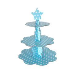 - Mavi Puantiyeli CupCake Standı