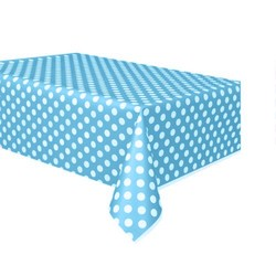 - Mavi Puantiyeli Masa Örtüsü
