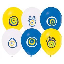 - Nazar Boncuğu Baskılı Balon 8 'li