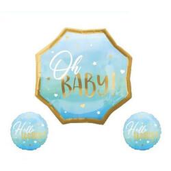 - Oh Baby Folyo Balon Set Mavi