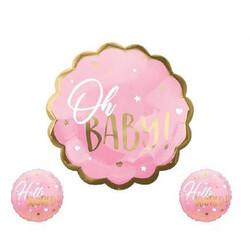 - Oh Baby Folyo Balon Set Pembe