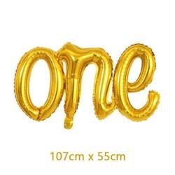- One El Yazısı Folyo Balon Gold