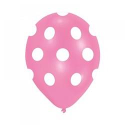 - Pembe Puantiyeli Baskılı Balon 6 'lı