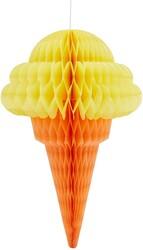 - Petek Süs Dondurma Sarı 50 Cm