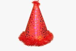 - Ponponlu Eva Şapka Yıldız Baskılı Kırmızı