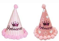 - Ponponlu Şapka Prenses Baskılı