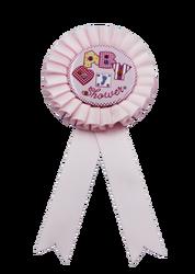 - Rozet Baby Shower Pembe Ayaklı Model