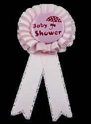 - Rozet Baby Shower Pembe Şemsiyeli Model