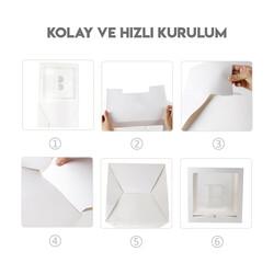 Şeffaf Harfli Kutu Mavi 25 x 25 x 25 Cm - Thumbnail