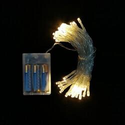- Şeffaf Kablolu 5 Metre Gün Işığı Sarı Renk Pilli Led Işık