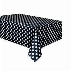 - Siyah Puantiyeli Masa Örtüsü