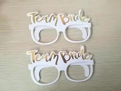 - Team Bride Gold Varak Baskılı Karton Gözlük 10' Lu