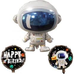 - Uzay Temalı Astronot Folyo Balon 3 lü Set