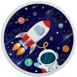 - Uzay Temalı Lisanslı Karton Tabak 23 Cm 8 'li
