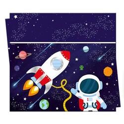 - Uzay Temalı Lisanslı Plastik Masa Örtüsü