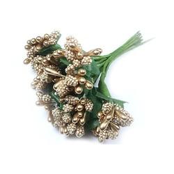 - Yapay Çiçek Cipso Pıtırcık Gold 12 Dal 144 'lü