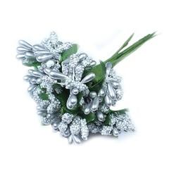 - Yapay Çiçek Cipso Pıtırcık Gümüş 12 Dal 144 'lü