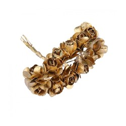 - Yapay Çiçek Lateks Gül Altın 12 Dal 144 'lü