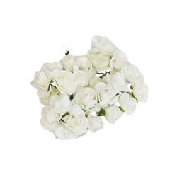 - Yapay Çiçek Lateks Gül Beyaz 12 Dal 144 'lü