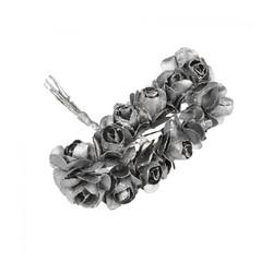 - Yapay Çiçek Lateks Gül Gümüş 12 Dal 144 'lü