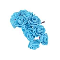 - Yapay Çiçek Lateks Gül Mavi 12 Dal 144 'lü