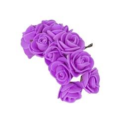 - Yapay Çiçek Lateks Gül Mor 12 Dal 144 'lü