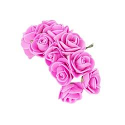 - Yapay Çiçek Lateks Gül Pembe 12 Dal 144 'lü