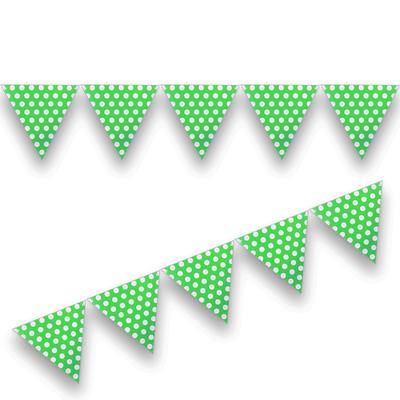 Yeşil Puantiyeli Bayrak Afiş