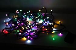 - Yılbaşı Işığı Led Atetat Kutulu Lüks RGB 10 Metre Fonksiyonlu Eklemeli Siyah Kablo
