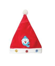 - Yılbaşı Kadife Noel Baba Şapkası Kardan Adam Figürlü