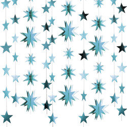 - Yıldız 3 Boyutlu Tavan Süsü Parlak Mavi